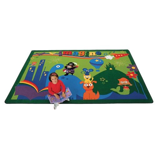 Carpets for Kids Printed A World of Imagination Kids Rug