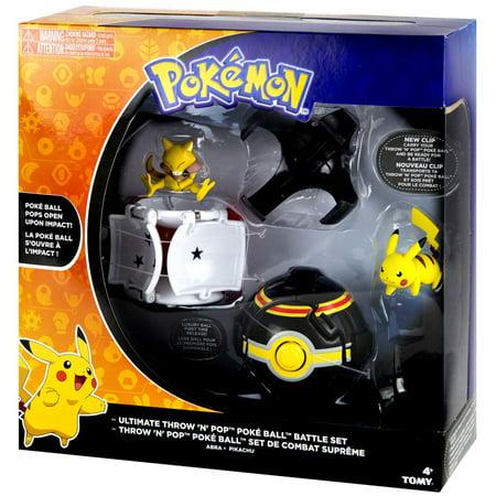 Pokemon Throw 'n' Pop Pokeball Ultimate Throw 'N' Pop Poke Ball Battle Set [Pikachu & Abra] (Pokeballs Of Pokemon)