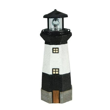 Light Horse - Moonrays Solar Powered LED Striped Lighthouse Statue