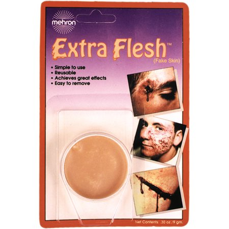 Extra Flesh Fake Skin Adult Halloween Accessory](Fake Gunshot Wound Halloween)