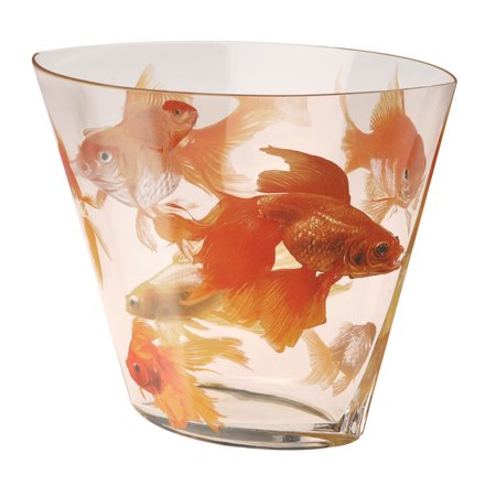 Koi glass vase fish decor for home for Koi home decor