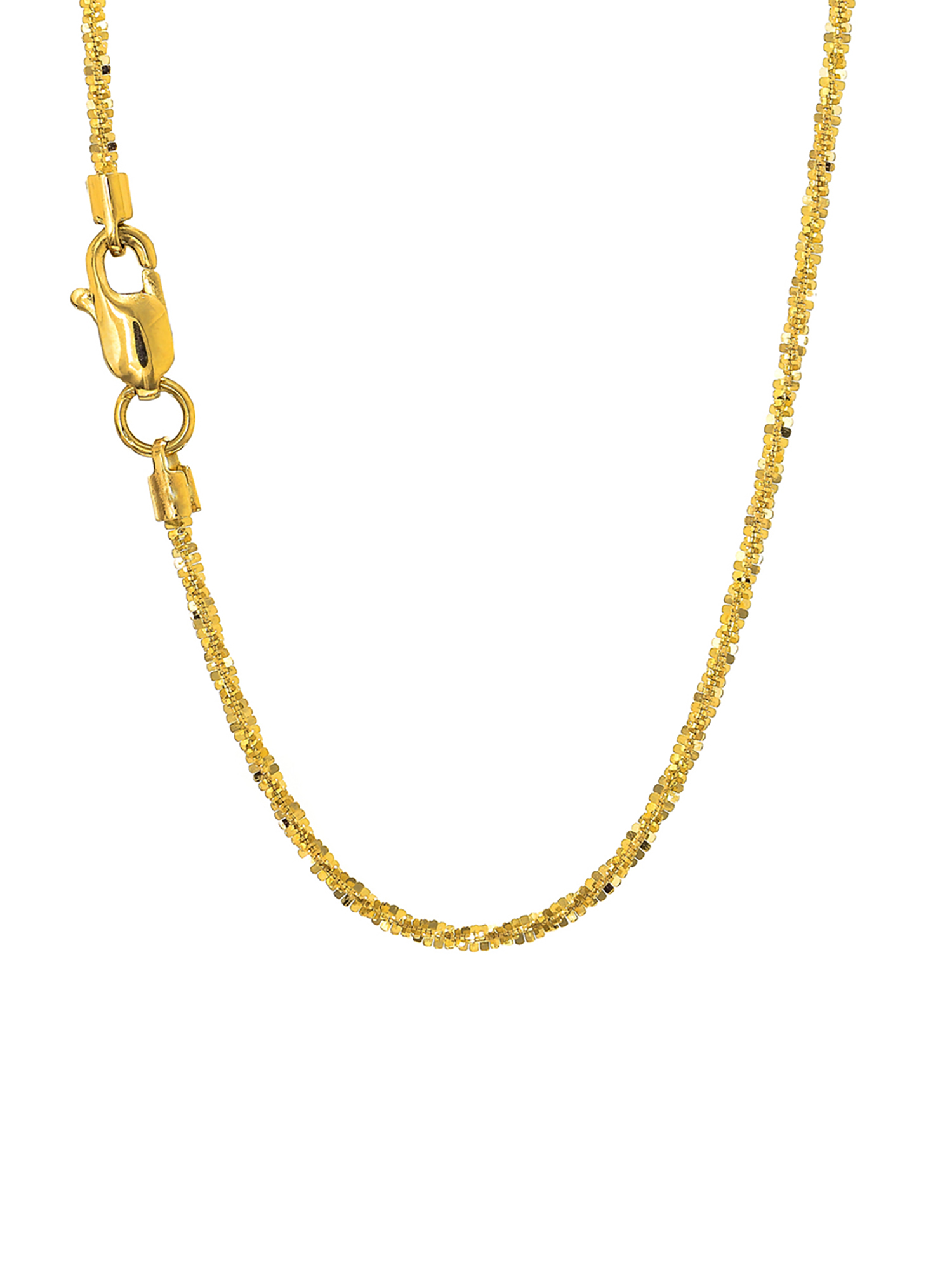 """14k Solid Gold Yellow Or White 1.5 mm Sparkle Chain Anklet Necklace 10"""" 16"""" 18"""" 20"""" Lobster Claw Clasp"""