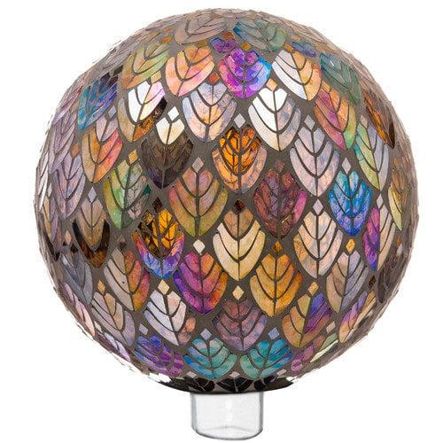 """Gazing Ball Glass Mosaic Globe 10"""" Outdoor Garden DCor by Evergreen"""