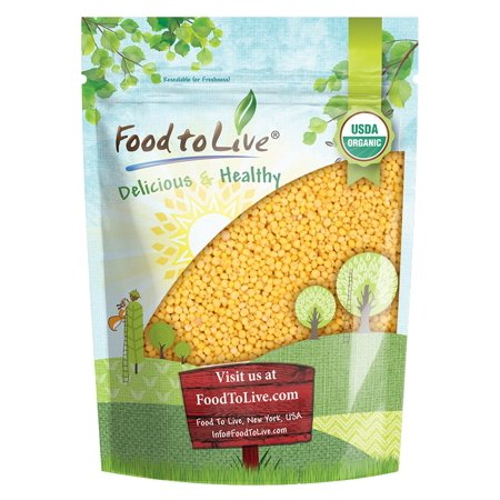 Organic Hulled Millet by Food to Live (Whole Grain Seeds, Non-GMO, Raw, Bulk, Product of the USA) (1 Pound)