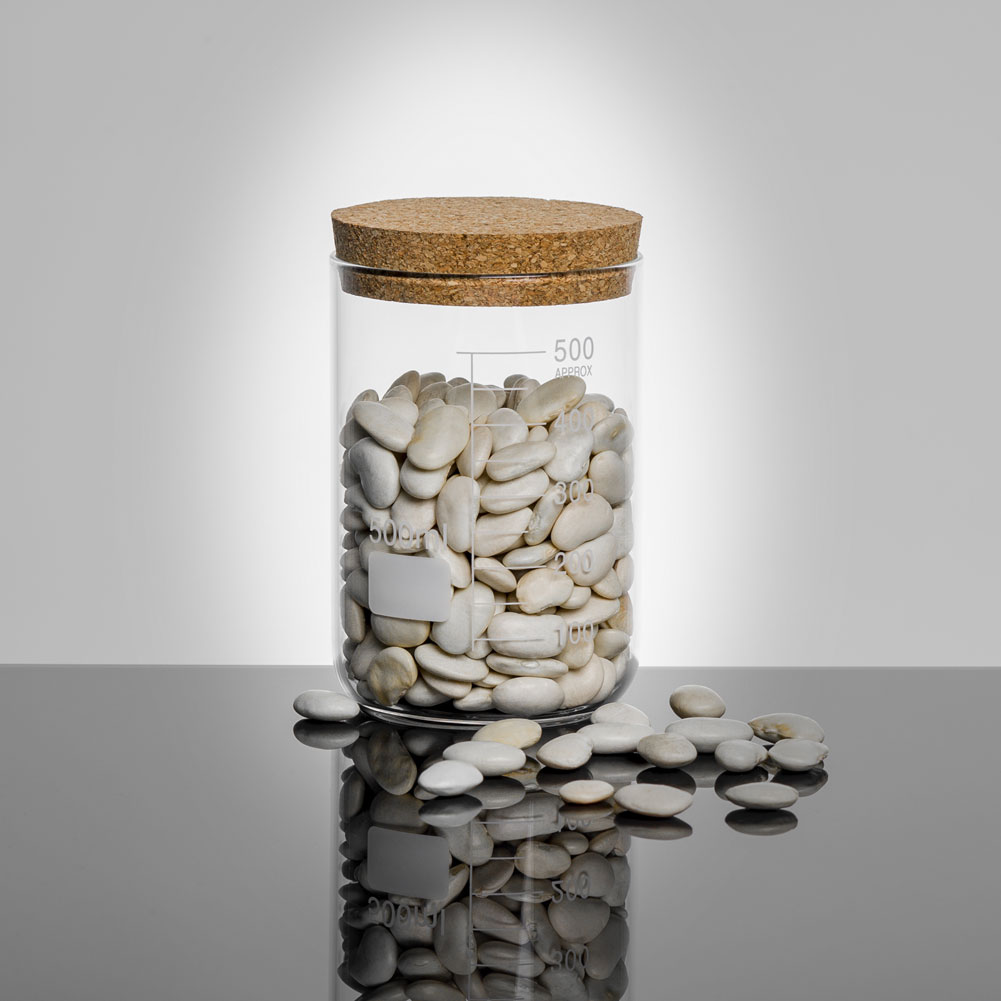 Jay Lab Cork Lid Storage Jar 500Ml