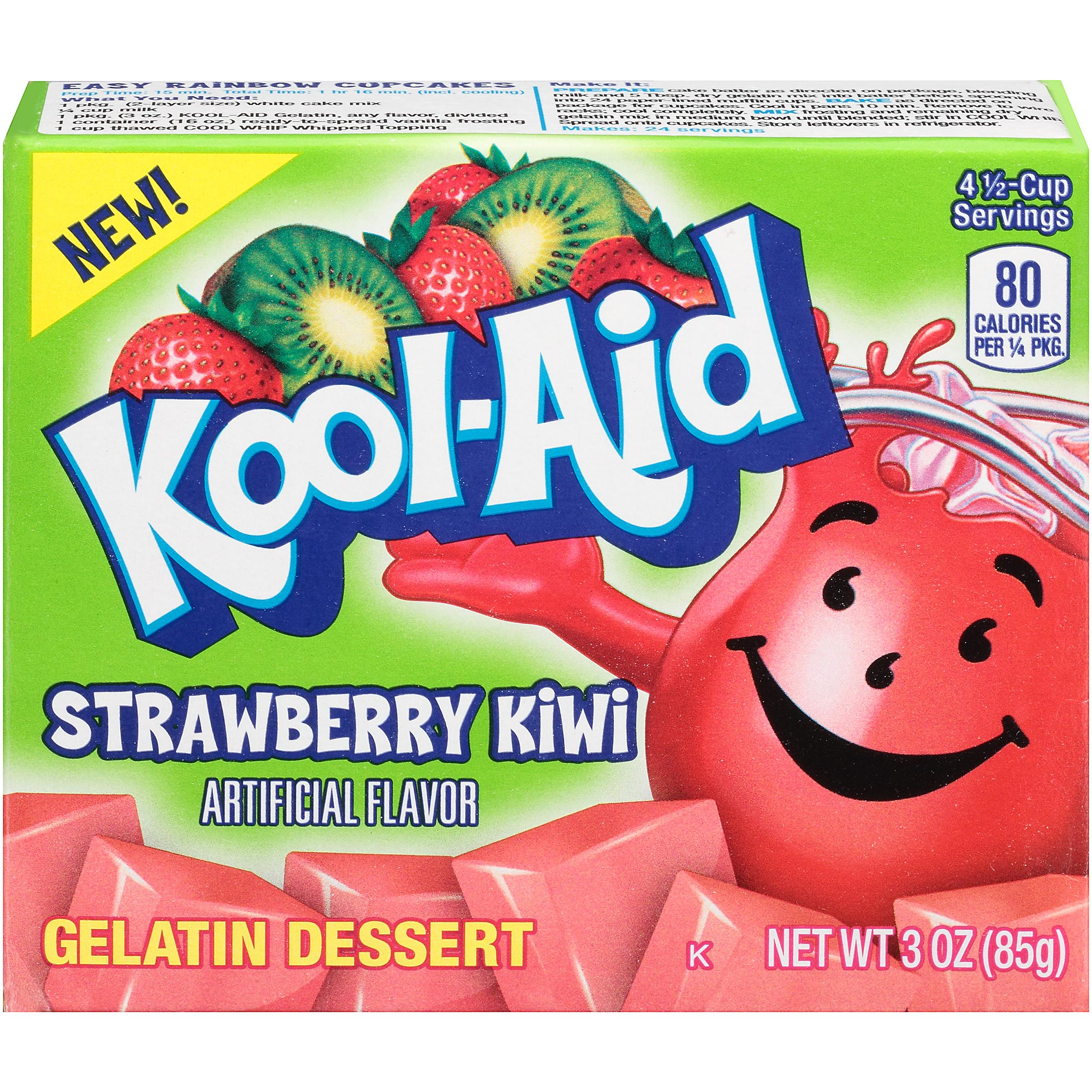 Kool-Aid Strawberry Kiwi Gelatin Dessert Mix 3 oz. Box