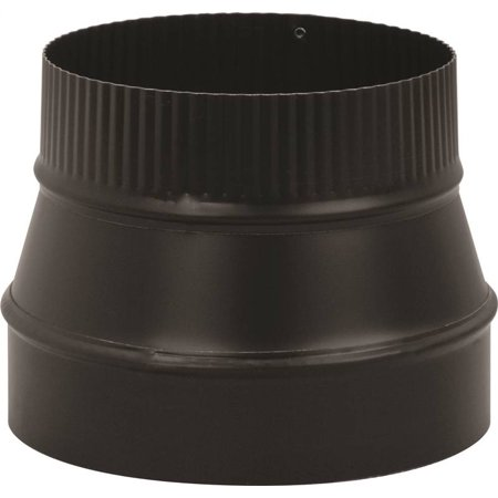 REDUCER PIPE 24GA 6X5IN BLK