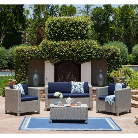 Christopher Knight Home Puerta Outdoor 4-piece Sofa Set by ()