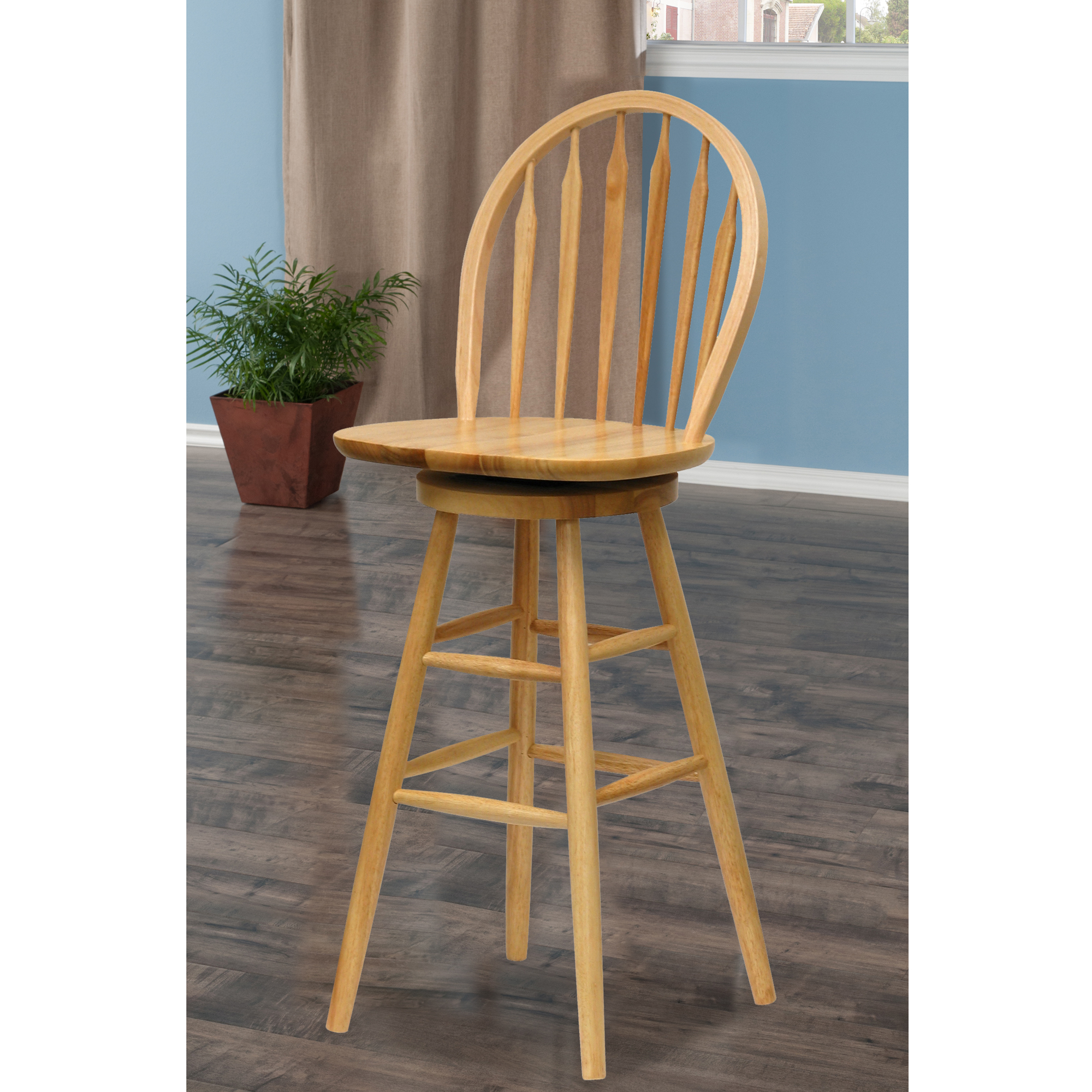 Winsome Wood Wagner 30 Arrow Back Windsor Stool Multiple Finish