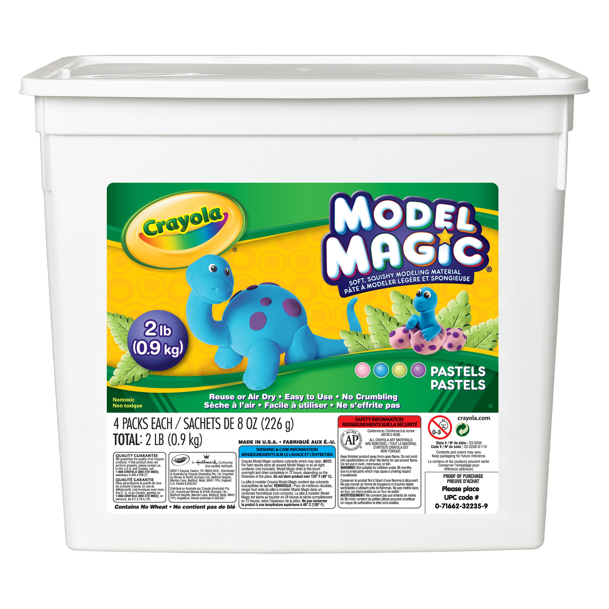 Crayola® Model Magic Pastel Bucket, 2 Lb