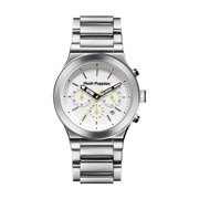 Hush Puppies Men's White Dial Stainless Steel Chronograph Watch HP.6057M.1501