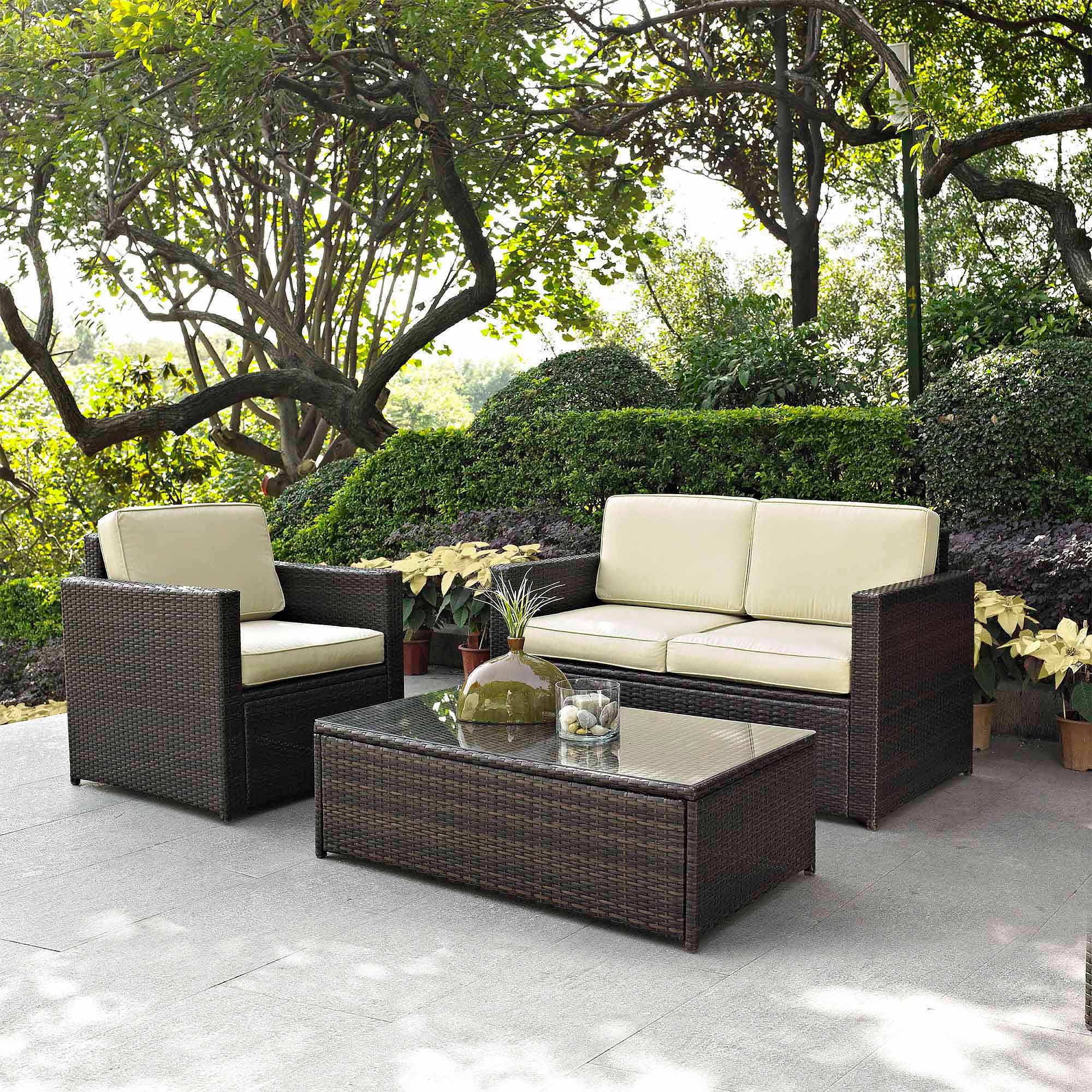 Crosley Furniture Palm Harbor 3-Piece Outdoor Wicker Seating Set