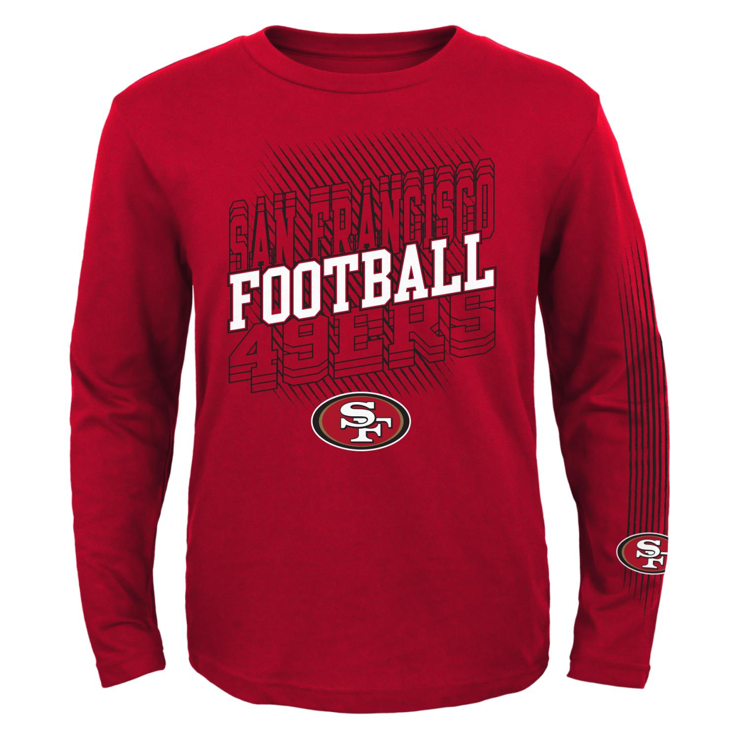 "San Francisco 49ers Youth NFL ""Frequency"" Long Sleeve T-Shirt"