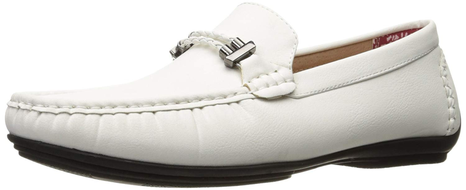 STACY ADAMS Mens Percy-Braided Strap Driving Moc Oxford