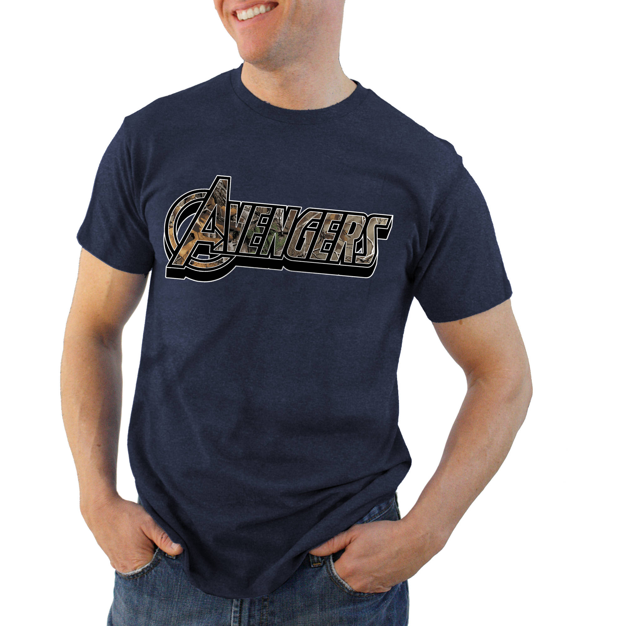 Avengers Filled Title Realtree Logo Men's Graphic Tee