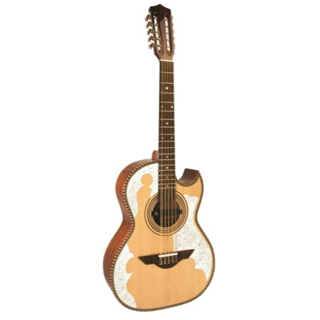 H. Jimenez Bajo Quinto (El Patro'n)  solid spruce top with gig bag - FULL body - Three Micas - with  Seymour Duncan pickup,