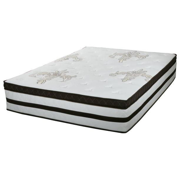 "Best Master Furniture's Celeste Non Flip Pillow Top 13"" Memory Foam Gel Infused Mattress, King"