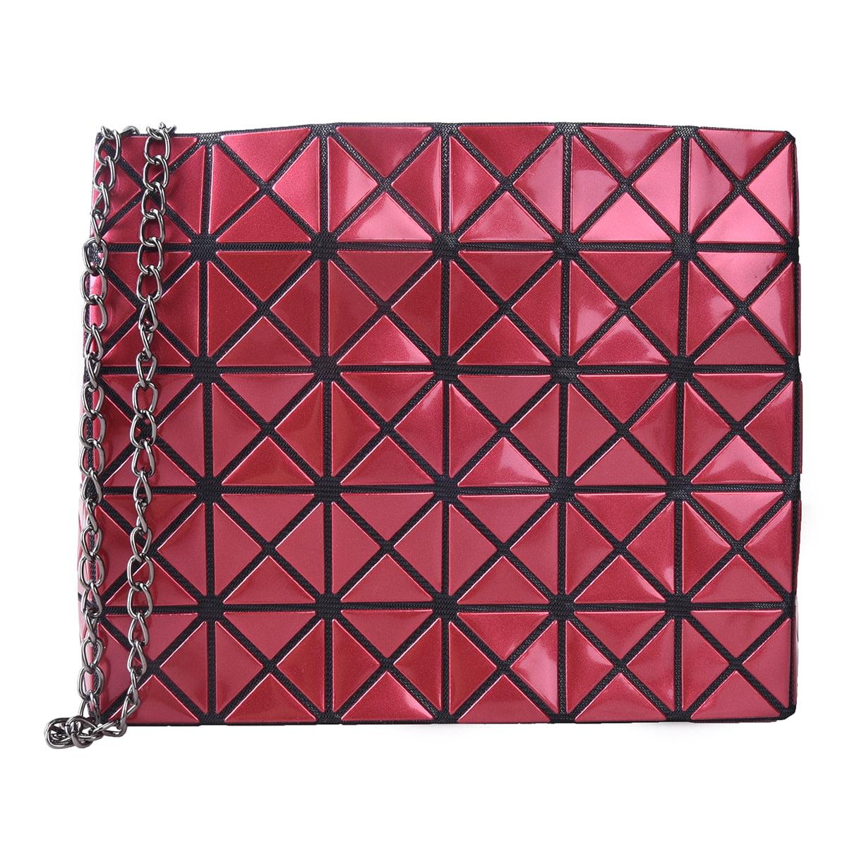 Women Shoulder Bags Geometric Totes Chains Strap Handbags Party Purse Clutch Bag