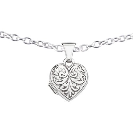 Scroll Heart - Sterling Silver Scrolled Heart Locket