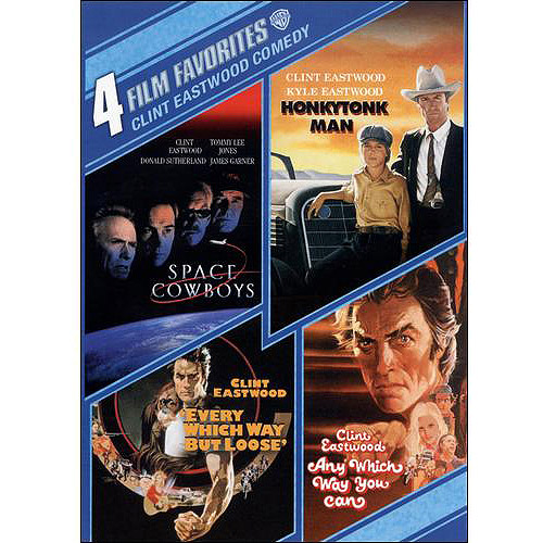 4 Film Favorites: Clint Eastwood Comedy Space Cowboys   Honkytonk Man   Every Which Way But Loose   Any Which... by WARNER HOME ENTERTAINMENT