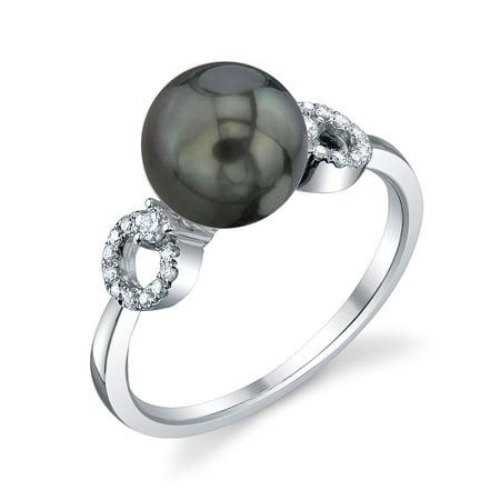 8mm Tahitian South Sea Cultured Pearl & Diamond Joyce Ring in 14K Gold