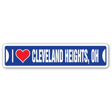 I LOVE CLEVELAND HEIGHTS, OHIO Street Sign oh city state us wall road décor - Party City Cleveland Ohio