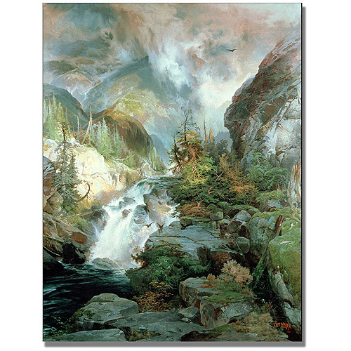 "Trademark Fine Art ""Children of the Mountain"" Canvas Art by Thomas Moran"