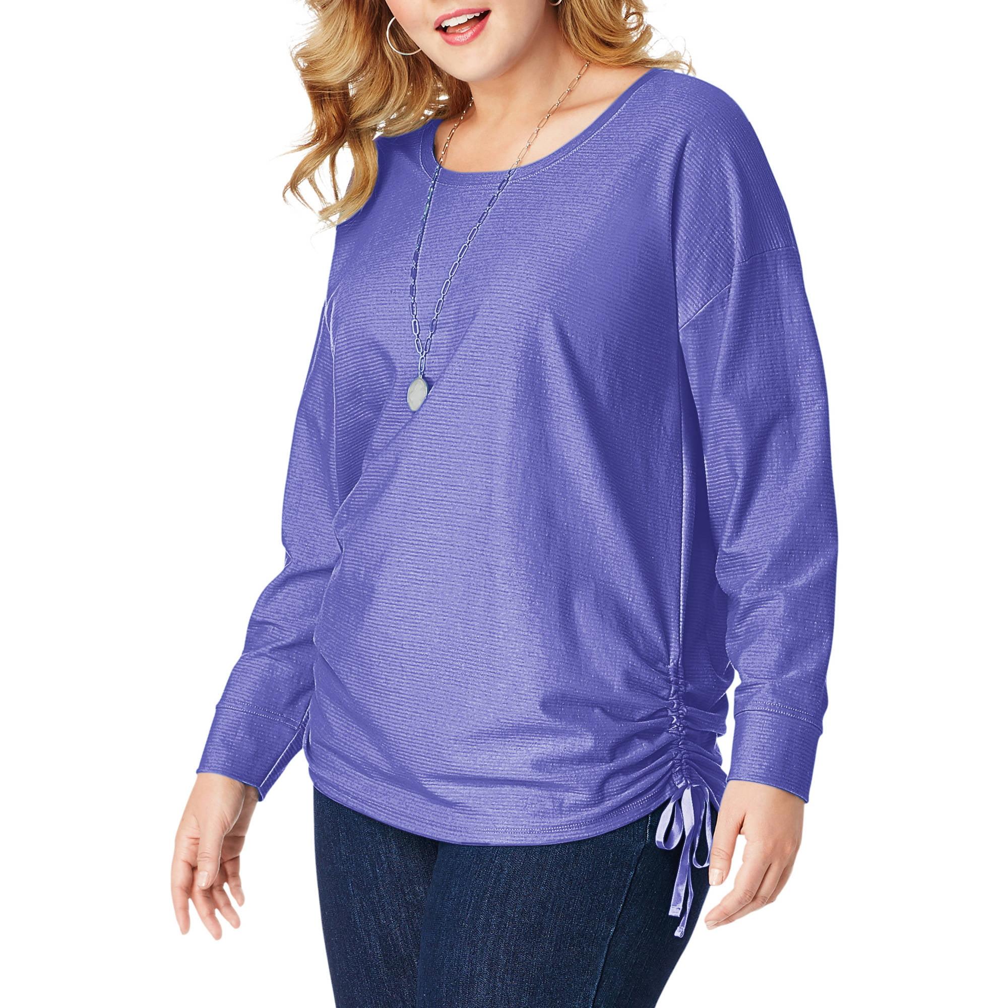 Just My Size Plus-Size Women's Shadow Stripe Tunic