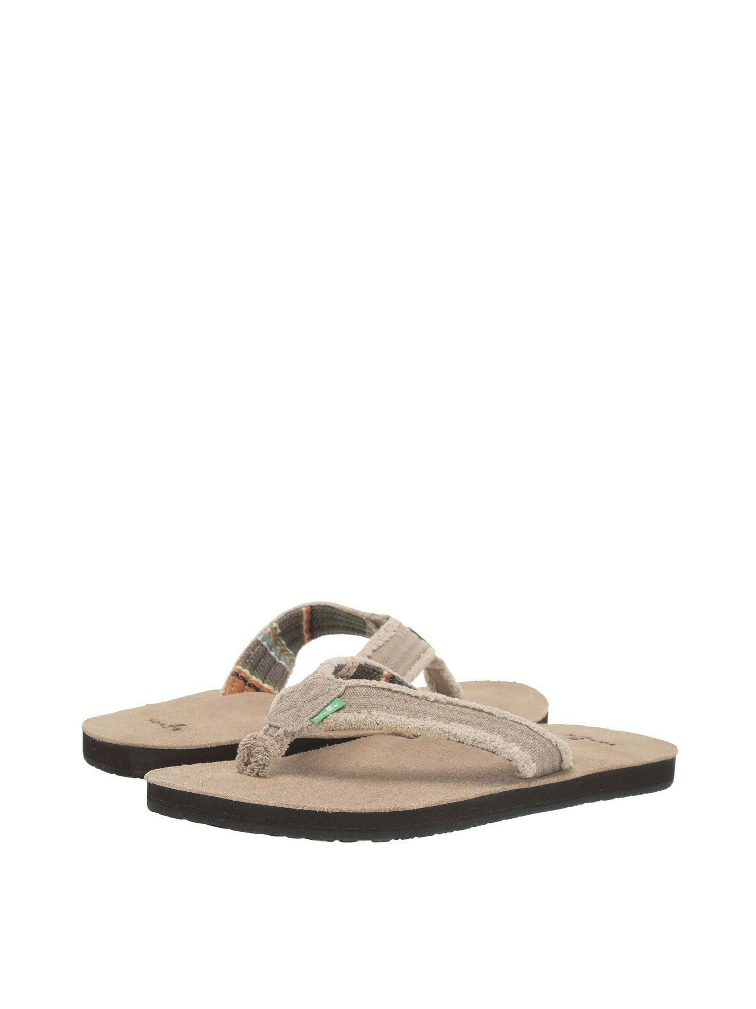 Sanuk FRAID NOT Tan Blanket Men/'s Casual Flip Flop Sandals 1107051