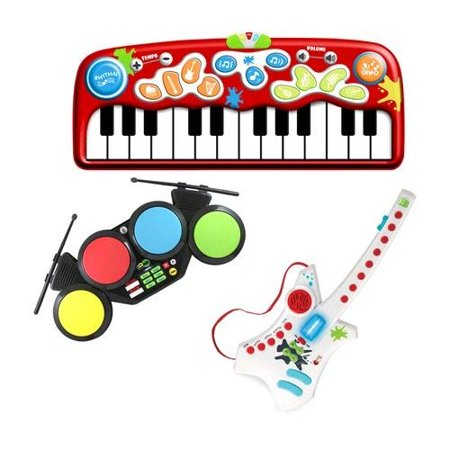 Early Learners STEAM - Do-Re-ME Music Arts Kit with Floor Piano, Electronic Drums, and Electronic Guitar ()