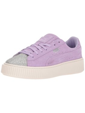 6754612bc216 Product Image Puma Girls Suede Platform Glam Low Top Lace Up Walking Shoes