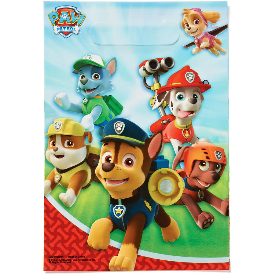 PAW Patrol Party Favor Treat Bags, 8ct