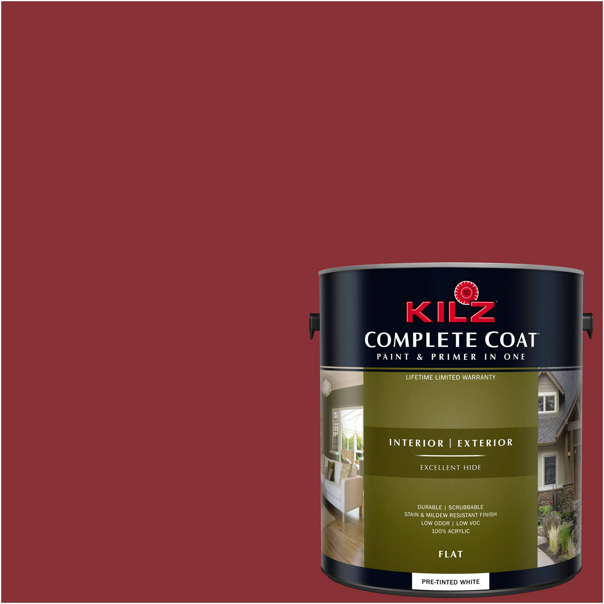 KILZ COMPLETE COAT Interior/Exterior Paint & Primer in One #LA130-02 Raging Bull