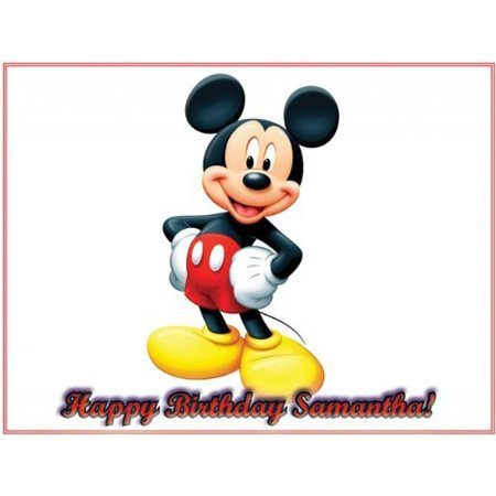 Mickey Mouse Edible Icing Image Cake Topper 8 in - Mickey Mouse Icing