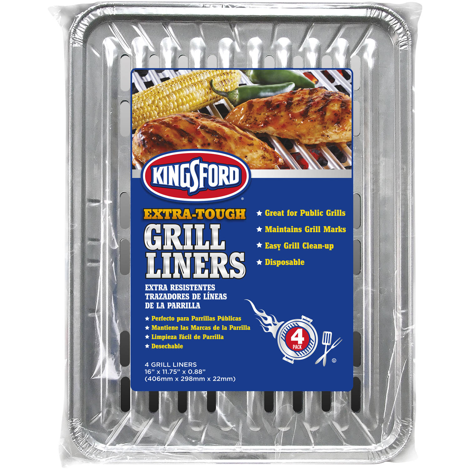 Kingsford 4pk Grill Liners