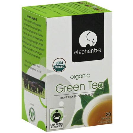 ELEPHANTEA Thé vert bio, 1,41 oz, (Pack de 6)