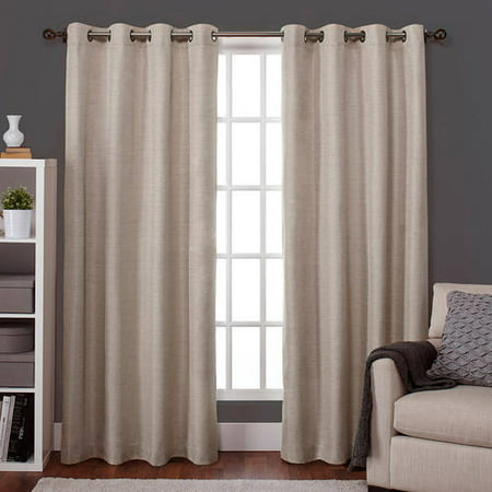 Exclusive Home Raw Silk Thermal Window Curtain Panel Pair