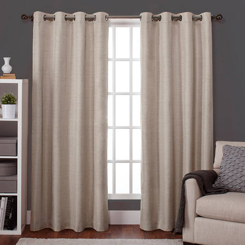 Exclusive Home Curtains 2 Pack Raw Silk Thermal Grommet Top Curtain Panels