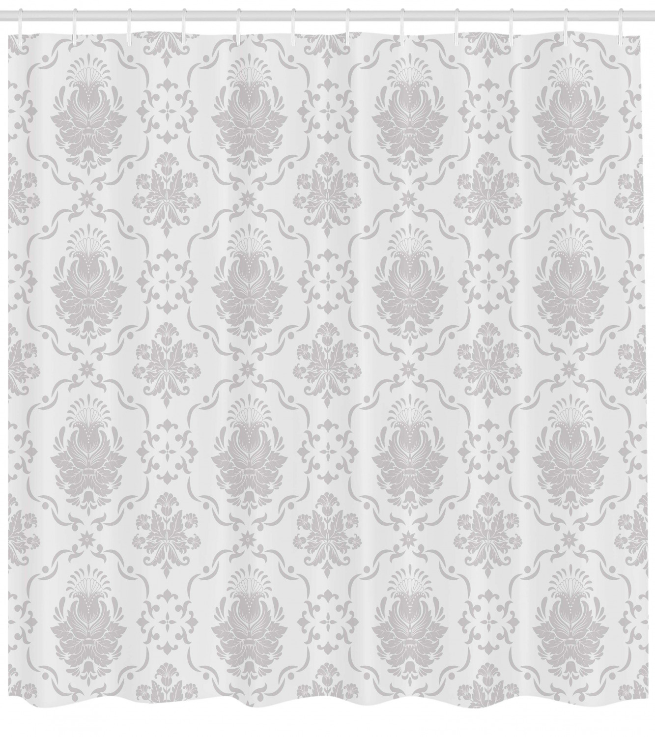 Grey Classic Victorian Floral Patterns Tulips Nostalgic Romantic Modern in Vintage Style Bohemian Cloth Fabric Bathroom Decor Set with Hooks Ambesonne Grey Shower Curtain 70 Long