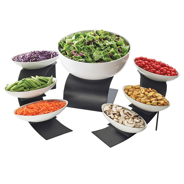 4W x 2D x 1H Melamine Canoe Bowl, case of 3