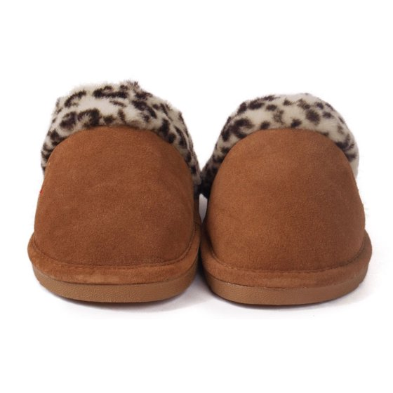 3ce6e68d6db Comfy Feet - Snooki Scuff Sheepskin Slippers - Leopard or Zebra ...