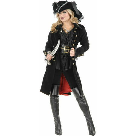 Pirate Vixen Coat Women's Adult Halloween Costume (Greaser Jacket Costume)