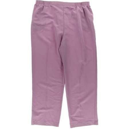 Alfred Dunner Womens Elastic Waist Casual Casual Pants