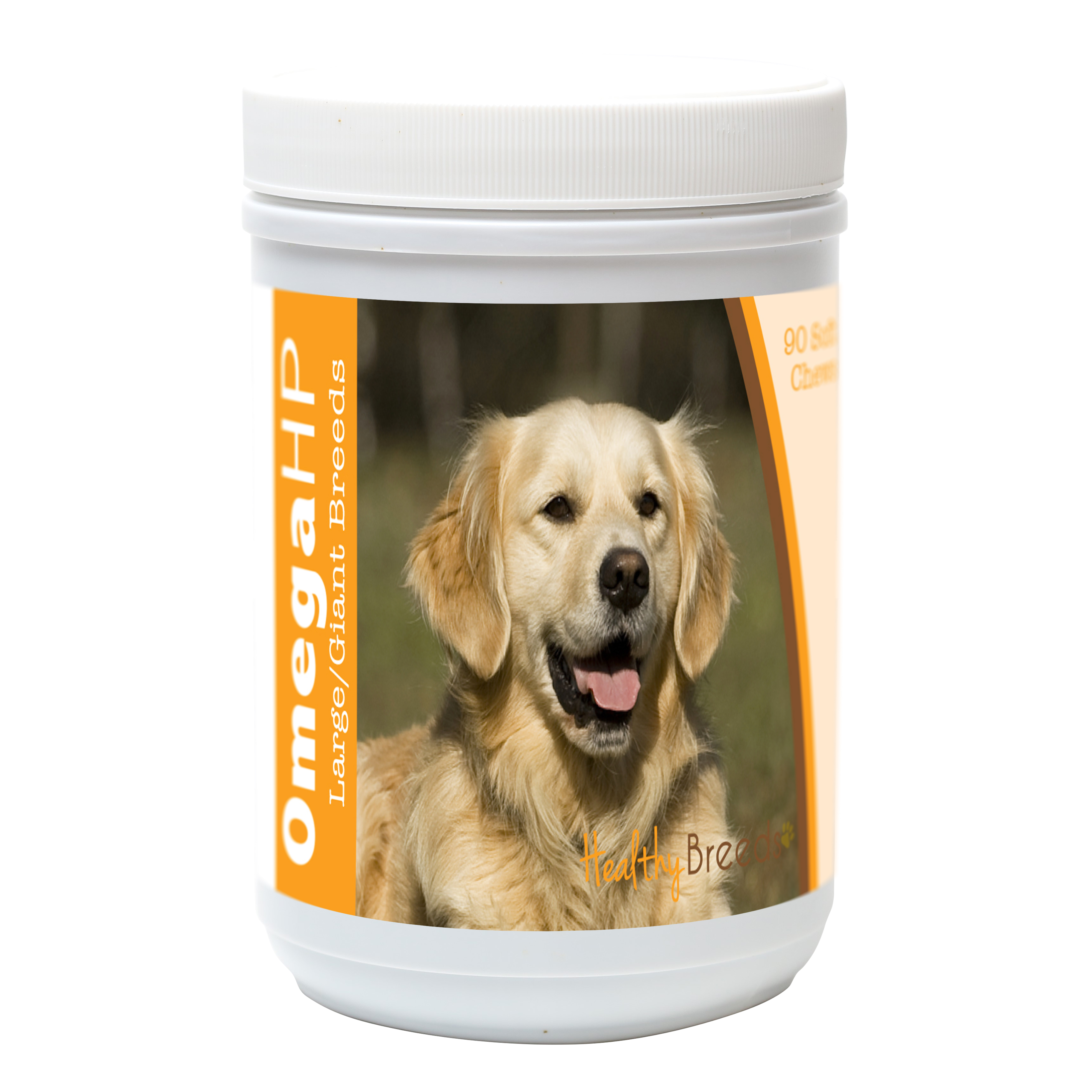 Healthy Breeds Golden Retriever Omega HP Fatty Acid Skin and Coat Support Soft Chews