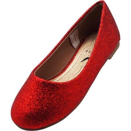 5b33822b641 Norty Girls Fashion Ballerina Ballet Slip On Flat Shoe Toddler - Big Girls