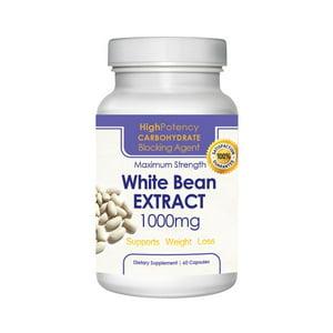 Pure 1,000-milligram White Kidney Bean Extract (60 Capsules)