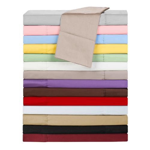 Chic Home Cotton 300 Thread Count Sheet Set Twin Taupe