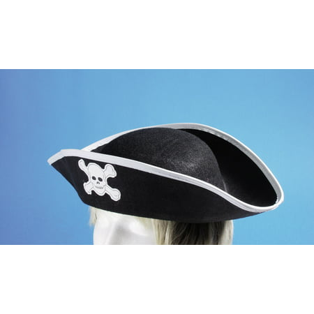 Mens Plus Size Pirate Costume (Loftus Pirate Skull and Crossbones Costume Hat, Black, One)