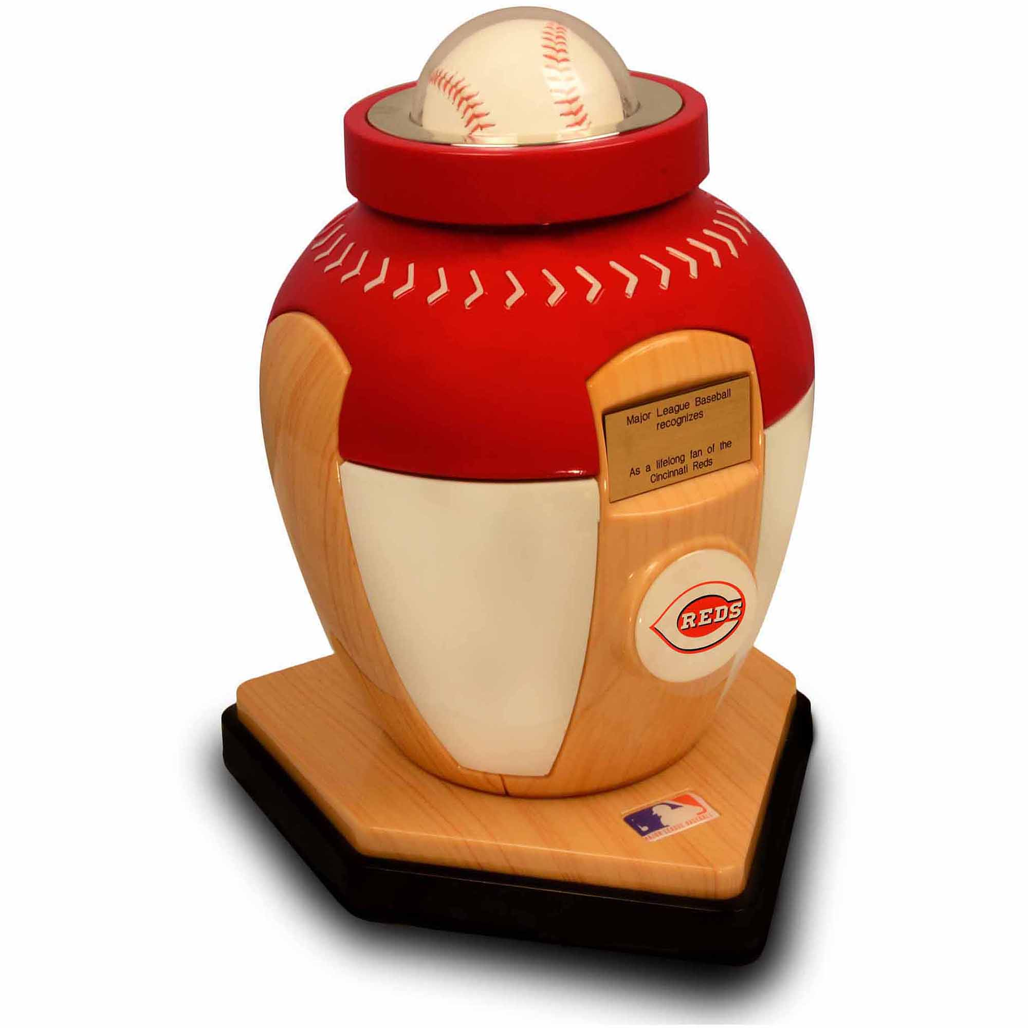 Official Major League Baseball Cremation Urn for Human Ashes - Cincinnati Reds