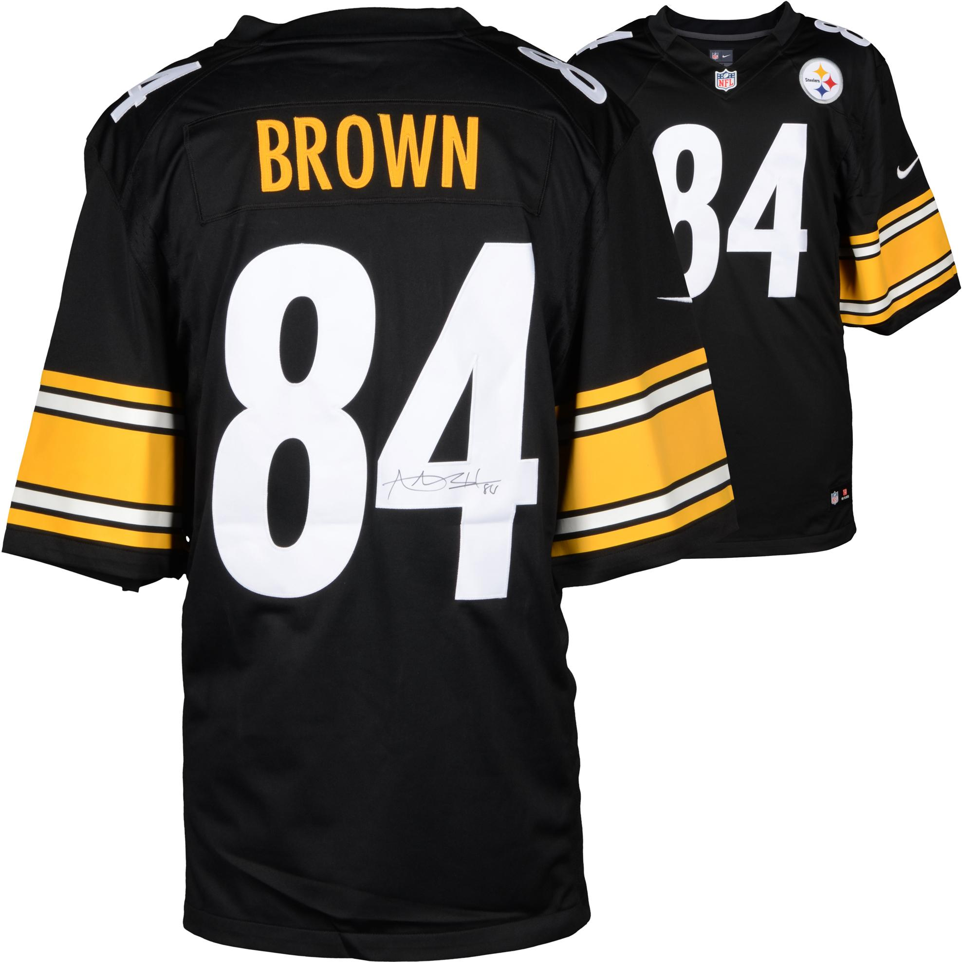 Antonio Brown Pittsburgh Steelers Autographed Limited Black Jersey - Fanatics Authentic Certified